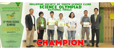 PSHS CMC bags Champion title in the 13th PSYSC Science Olympiad